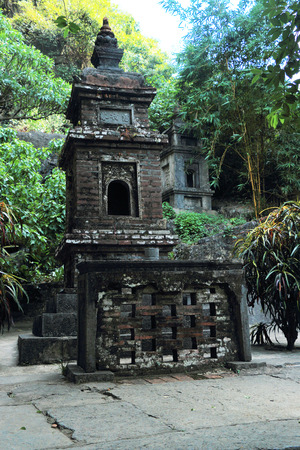 tam: tam coc three temples on mountain
