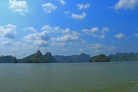ha: ha long bay cat ba islands and rock formations vietnam