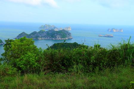 ha: ha long bay cat ba islands and rock formations Stock Photo