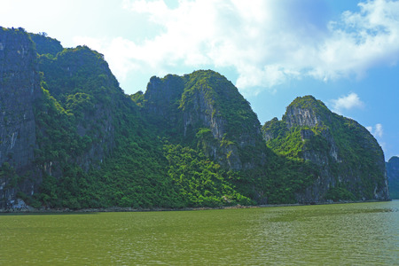 ha: ha long bay cat ba islands and rock formations vietnam