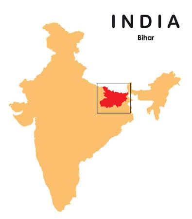 Bihar in India map