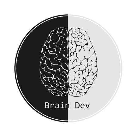 dev: Brain dev brain logo example illustration