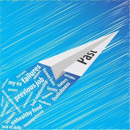 Paper plane of memories