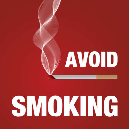 Avoid smoking sign red vector illustration