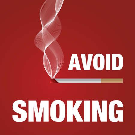 avoid: Avoid smoking sign red vector illustration