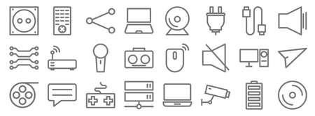 technology line icons. linear set.  イラスト・ベクター素材