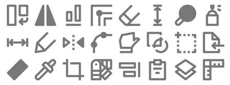 graphic design line icons. linear set. quality vector line