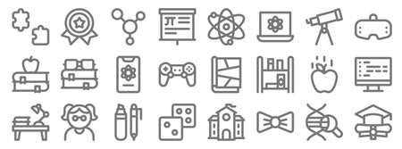 nerd line icons. linear set. quality vector line.