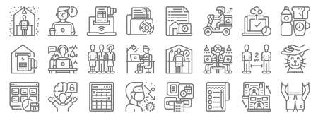 home line icons. linear set. quality vector line.
