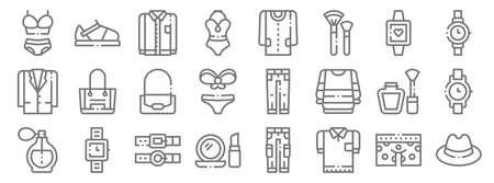 fashion line icons. linear set. quality vector line.