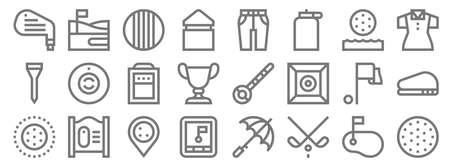 golf line icons. linear set. quality vector line. Vectores