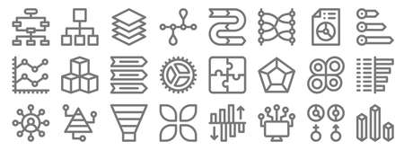infographic elements line icons. linear set. quality vector line