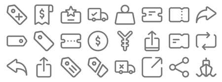 marketplace line icons. linear set. quality vector line. Ilustracja