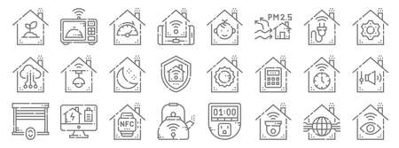 smarthome line icons. linear set. quality vector line.