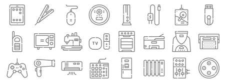 electronics line icons. linear set. quality vector line
