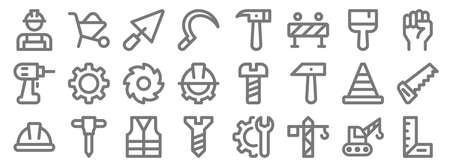 labour day line icons. linear set. quality vector line Vetores