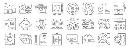 business and finance line icons. linear set. quality vector line  イラスト・ベクター素材