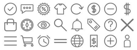 e-commerce starter pack line icons. linear set. quality vector line 向量圖像