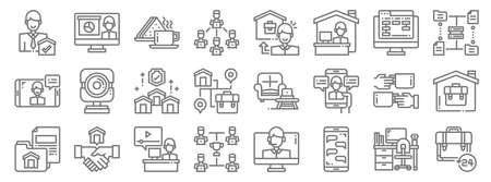 home line icons. linear set. quality vector line 向量圖像
