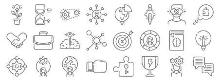 set of 10 life skills line icons. linear set. quality vector line Иллюстрация