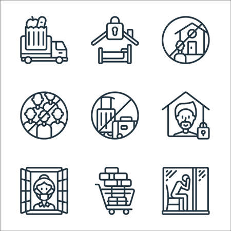 self isolation line icons. linear set. quality vector line set.