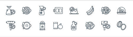 vegan food line icons. linear set. quality vector line set.
