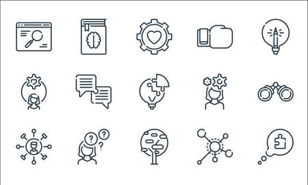life skills line icons. linear set. quality vector line set.