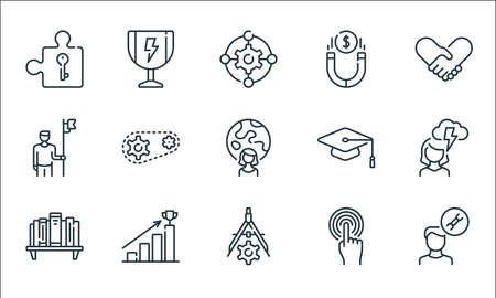 life skills line icons. linear set. quality vector line set.