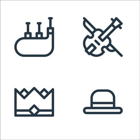 europe line icons. linear set. quality vector line set.