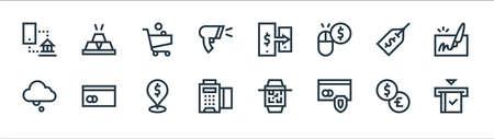 payment line icons. linear set. quality vector line set. Illusztráció