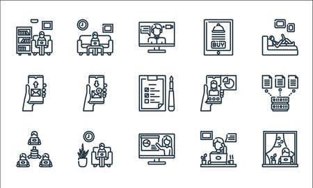 home icon pack line icons. linear set. quality vector line set.