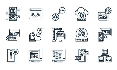 user experience line icons. linear set. quality vector line set. Stock Illustratie