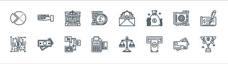 banking and money line icons. linear set. quality vector line set. Ilustracja