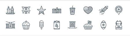 july line icons. linear set. quality vector line set. Ilustração