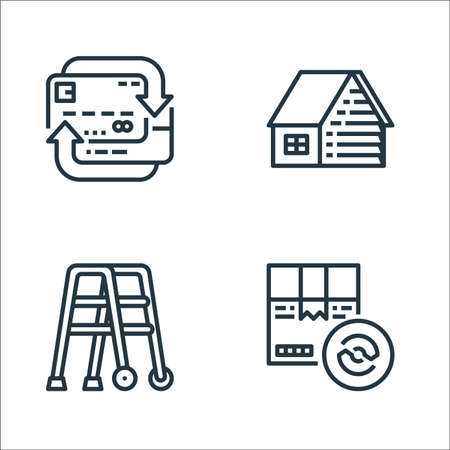 recycling line icons. linear set. quality vector line set.
