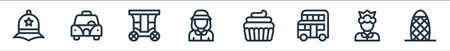 england line icons. linear set. quality vector line set.