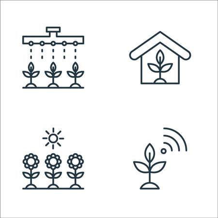 smart farm line icons. linear set. quality vector line set. Illusztráció