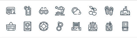 stationery line icons. linear set. quality vector line set such as envelope, postage stamp, agenda, notepad, envelope, message, envelope, checklist 向量圖像