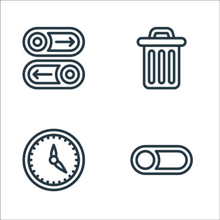 miscellaneous line icons. linear set. quality vector line set such as switch off, timer, trash bin Vektorové ilustrace