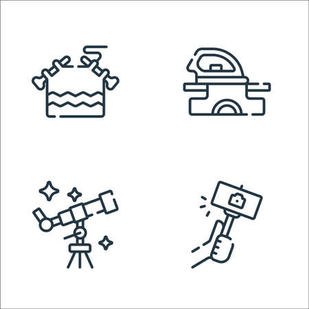 free time line icons. linear set. quality vector line set.