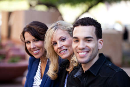 Group of Business People Smiling outside the office Stock Photo - 13562337