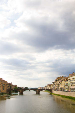 firenze: Arno river in Florence (Firenze), Tuscany, Italy.Panorama Stock Photo