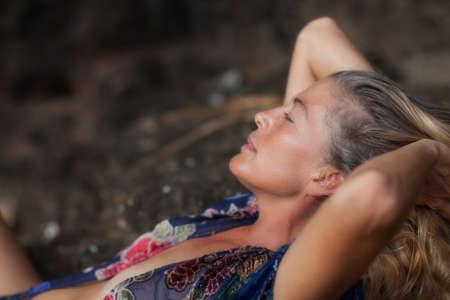 sexy mature women: Woman relaxing
