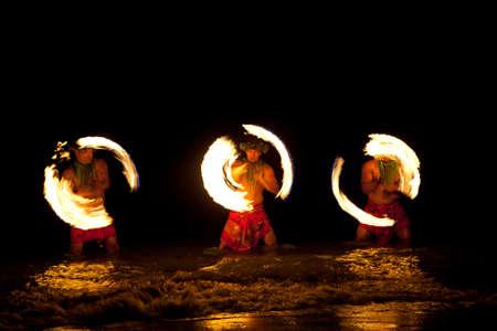 maui: Three Strong Men Juggling Fire in Hawaii - Fire Dancers