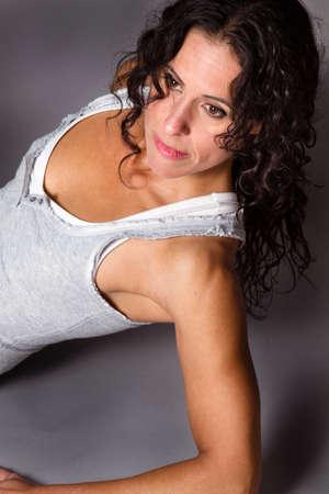 rican: Portrait of a Fit Brunette Puerto Rican woman