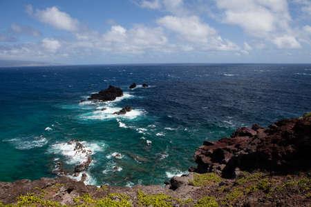 big island: Tranguil scene on Maui coast line with  Lanai in the background