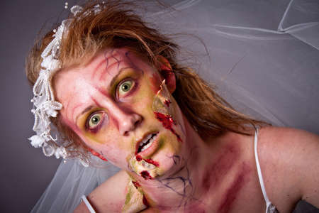 Woman as a Zombie Bride photo