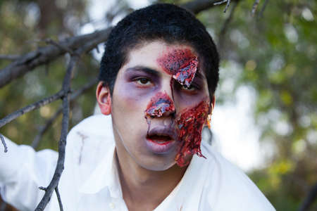 African American Teenager Zombie in the park Stock Photo - 19197314