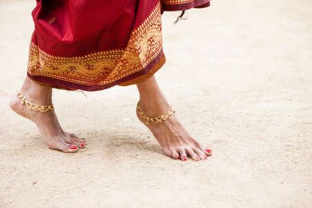 jeweled: Pretty Jeweled Dancers feet in the sand