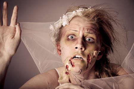 Woman as a Zombie Bride photo